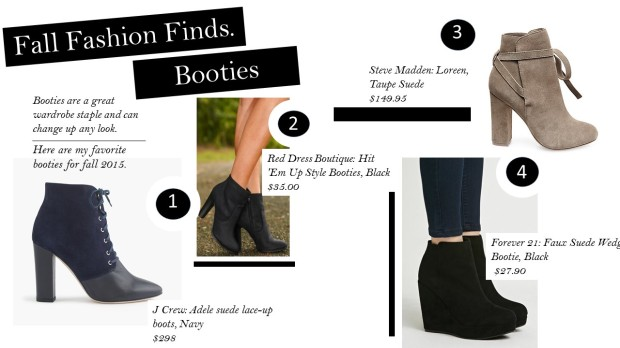 Fall Fashion Finds: Booties